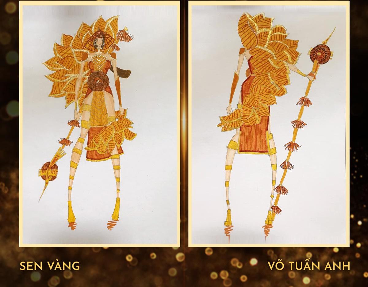 Thiết kế Sen vàng của NTK Võ Tuấn Anh.