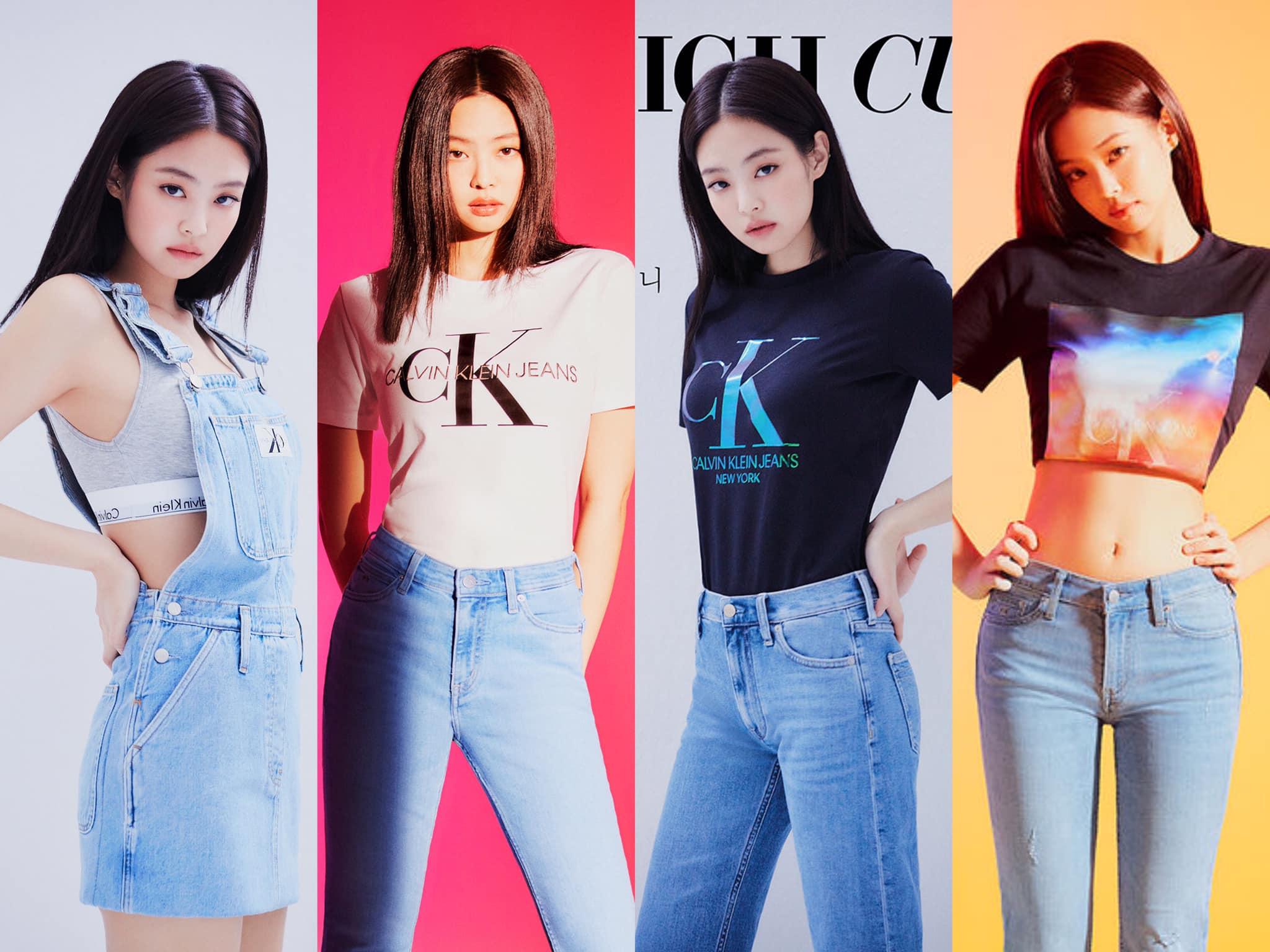 Với phong cách tươi trẻ phù hợp với các cô gái trong độ tuổi 20-30, Jennie cũng rất xuất sắc trong vai trò người mẫu cho Calvin Klein Jeans. Diện những mẫu đồ jeans đơn giản mà khỏe khoắn của hãng, nữ idol khoe được vóc dáng chuẩn mực, góp phần giúp doanh thu của hãng tăng vùn vụt.