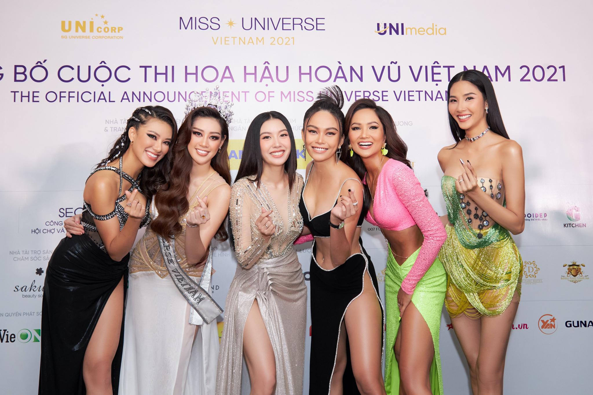 Dàn người đẹp Hoa hậu Hoàn vũ Việt Nam 2017, 2019.