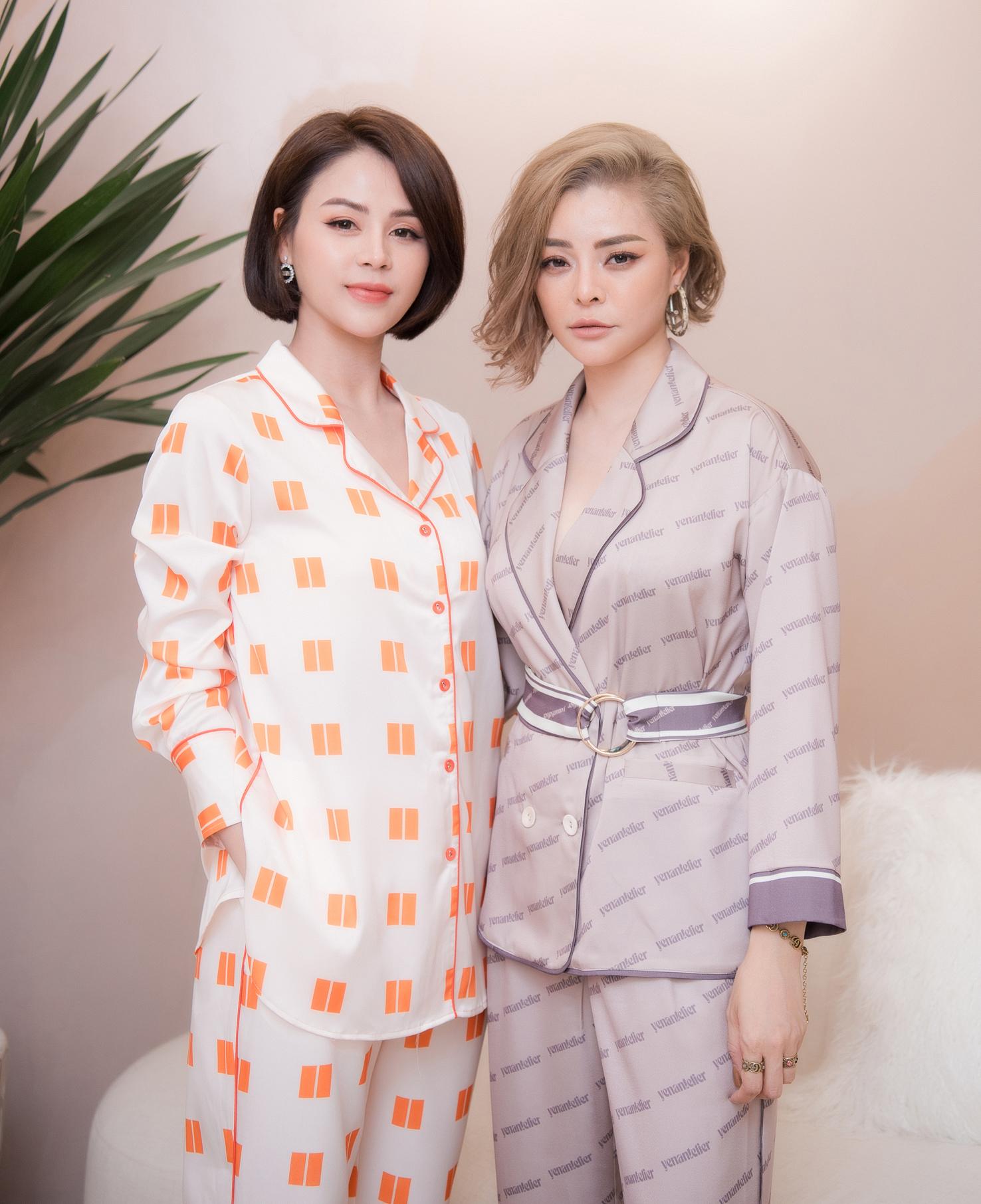 Diễn viên Lương Thu Trang được NTK Thu Yến tư vấn các trang phục mặc nhà.