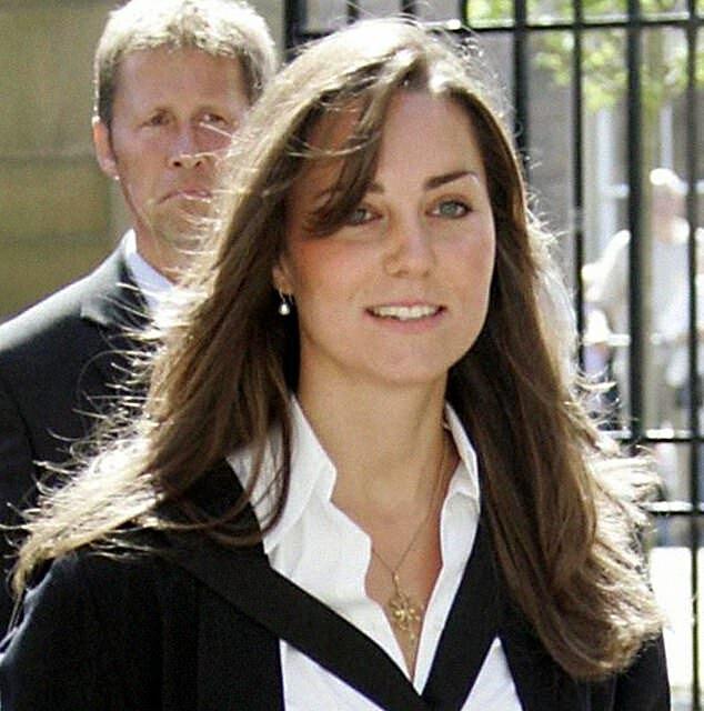 Kate khi tốt nghiệp vào năm 2005. Ảnh: PA.