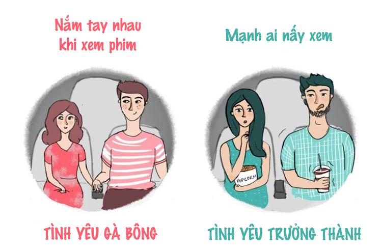Sự khác biệt giữa tình yêu gà bông và tình yêu trưởng thành - 3