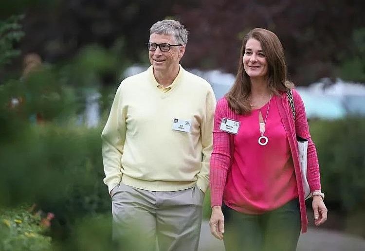 Hình ảnh Bill Gates và vợ Melinda Gates ngày còn bên nhau.