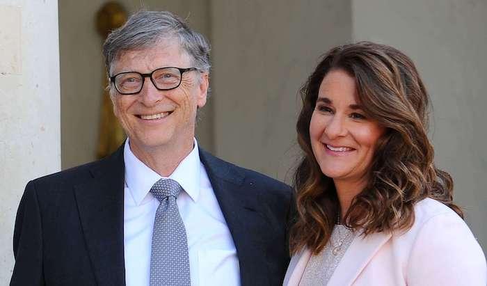 Bill Gates và vợ.