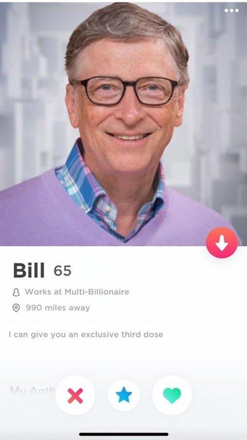 Hồ sơ Dating của Bill Gates giờ đây.