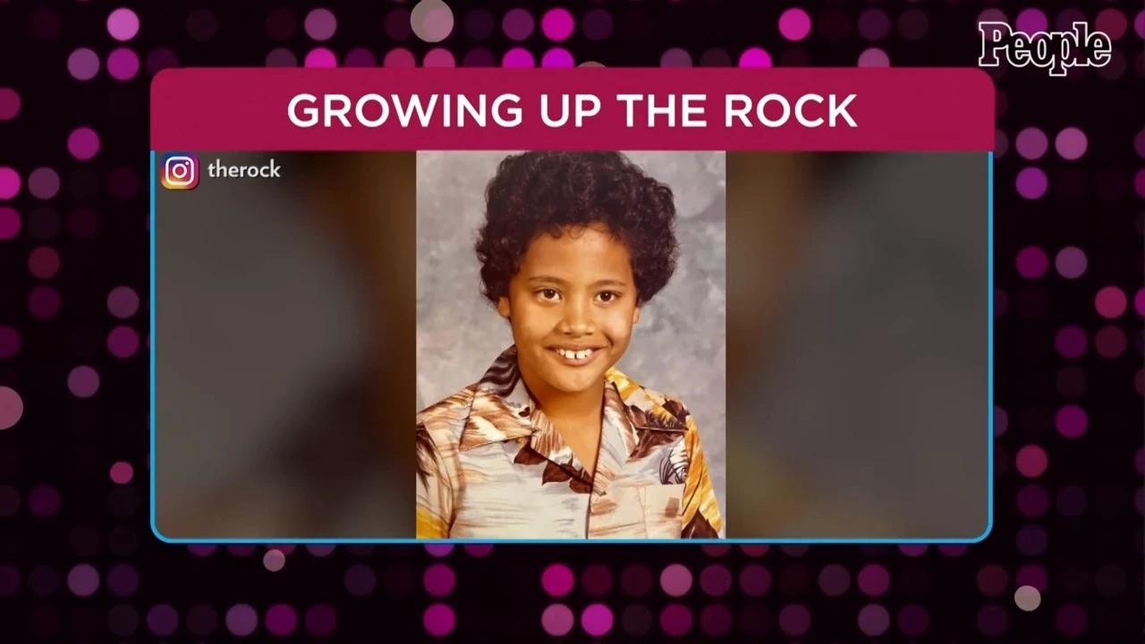 The Rock thời nhỏ.