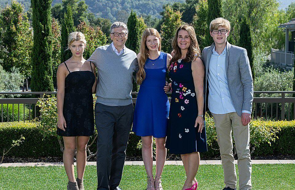 Gia đình nhà Bill Gates.