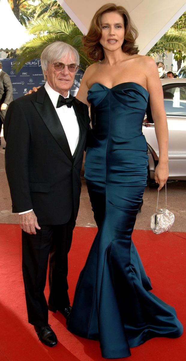 Tỷ phú Bernie Ecclestone và người mẫu Slavica Radić.
