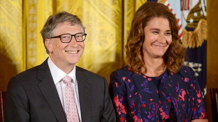 Bill Gates và vợ cũ Melinda.