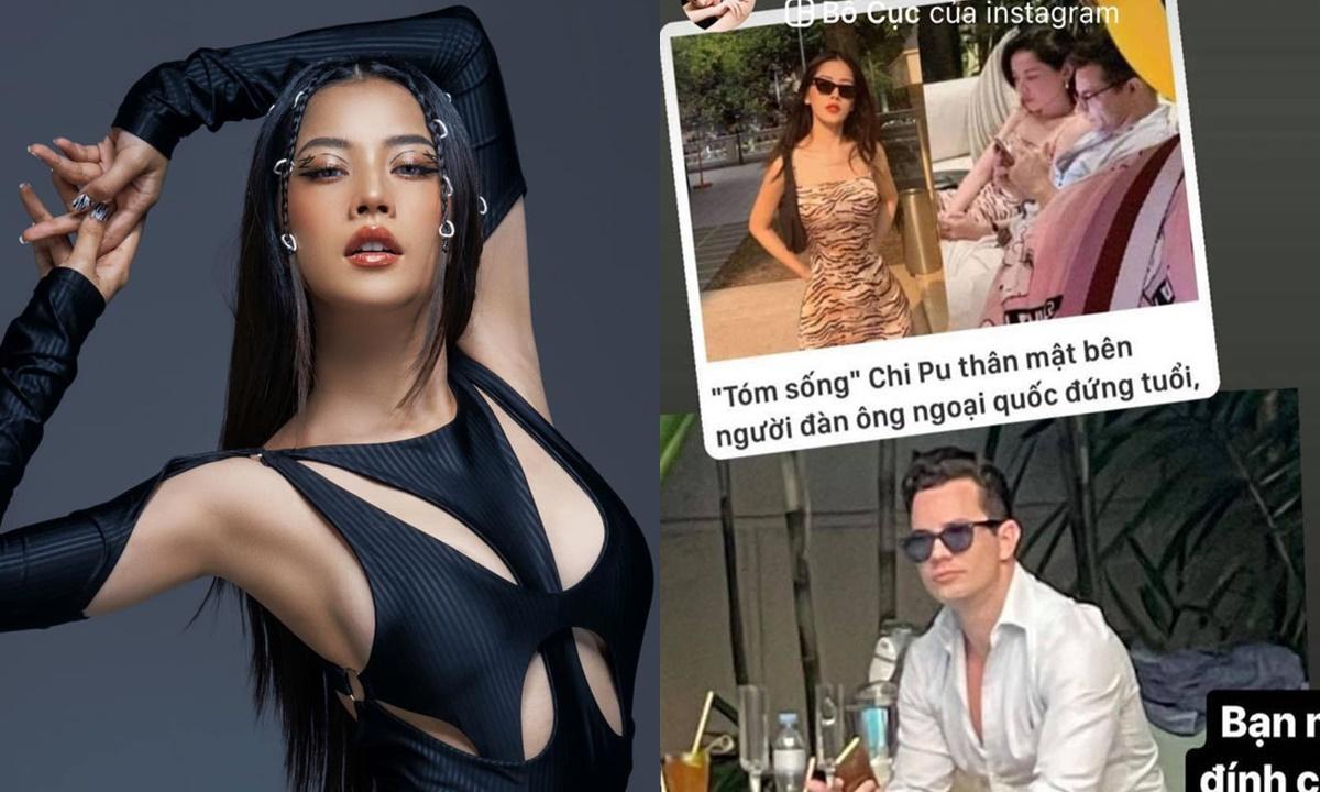 Chi Pu đăng hình người đàn ông ngoại quốc dính tin hẹn hò với cô.