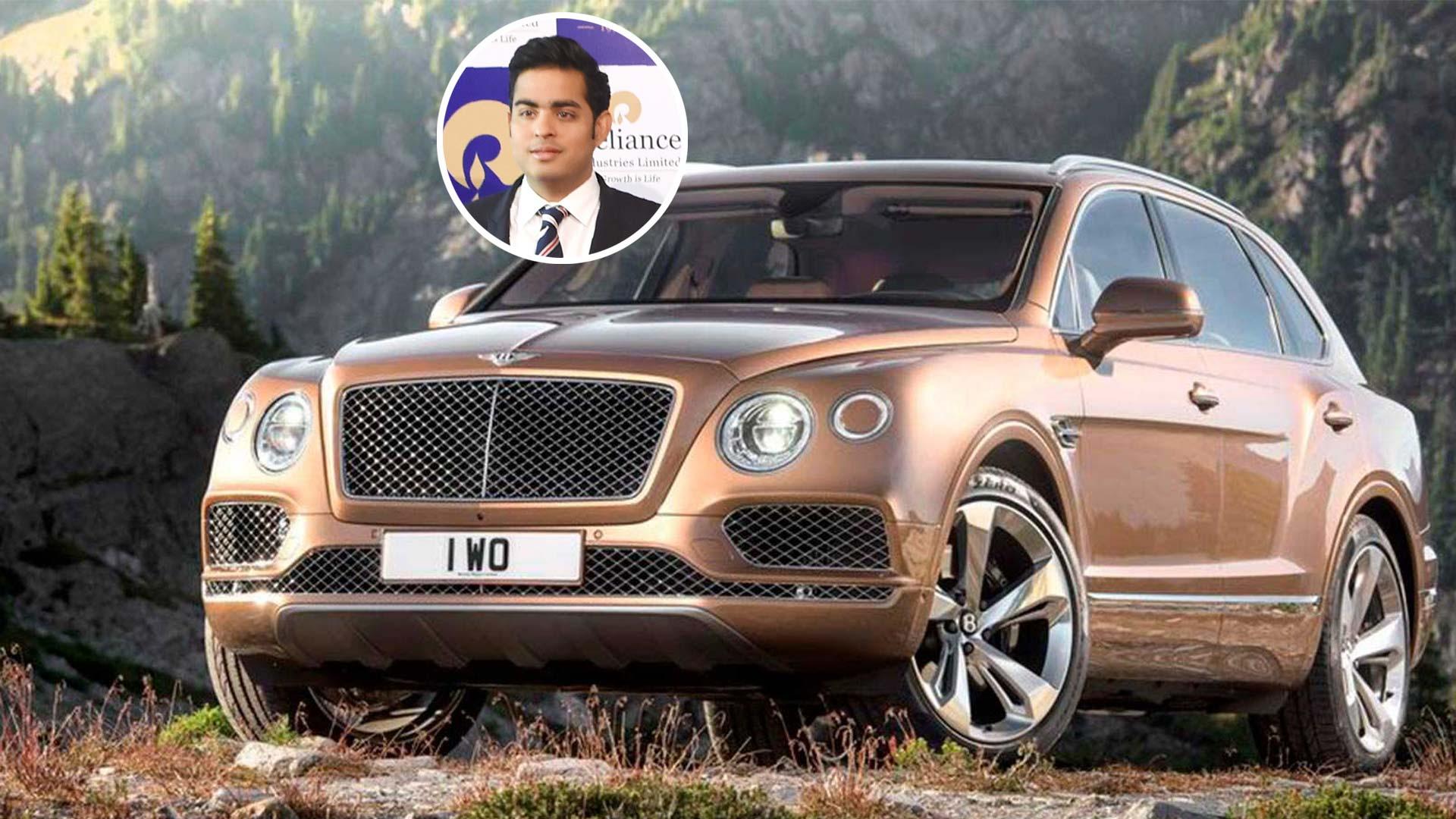 Giống ông bố tỷ phú, Akash Ambani cũng đam mê với siêu xe.