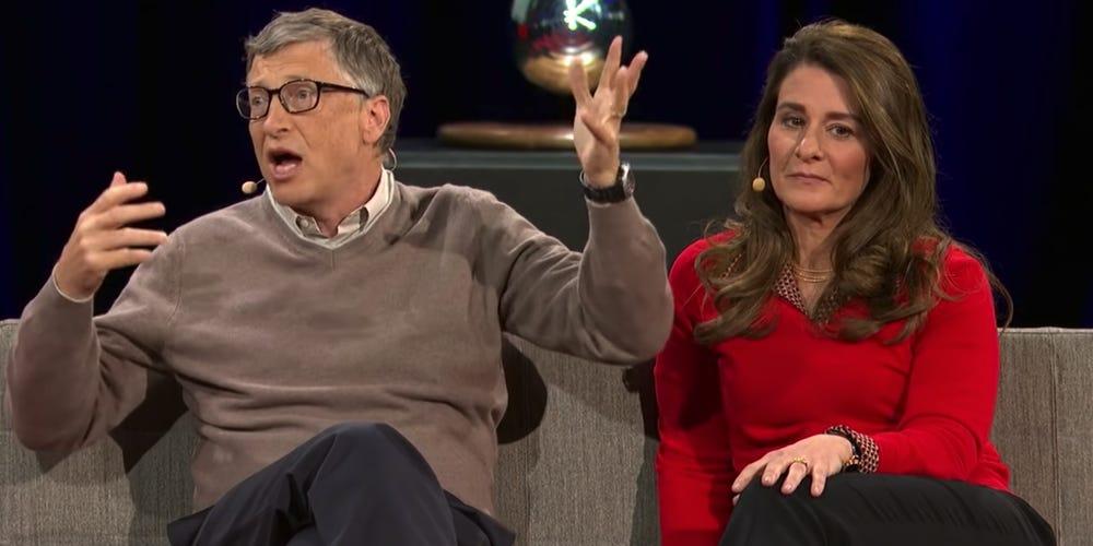 Bill và Melinda Gates trong hội nghị của TED năm 2014