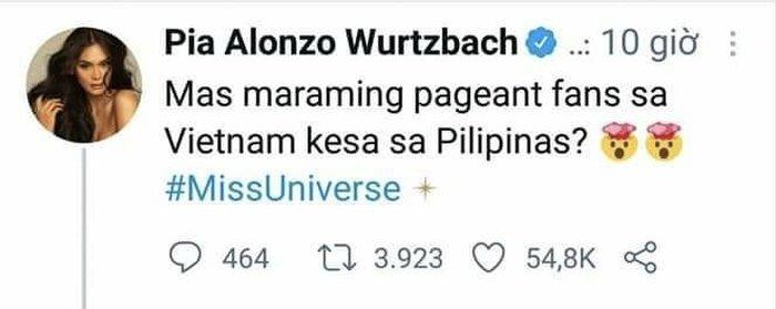 Hoa hậu Philippines rối rít xin lỗi vì trót nghi ngờ giải vote của Khánh Vân - 1