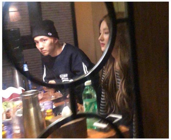 Nancy bị chụp ảnh đi chơi cùng nam idol.