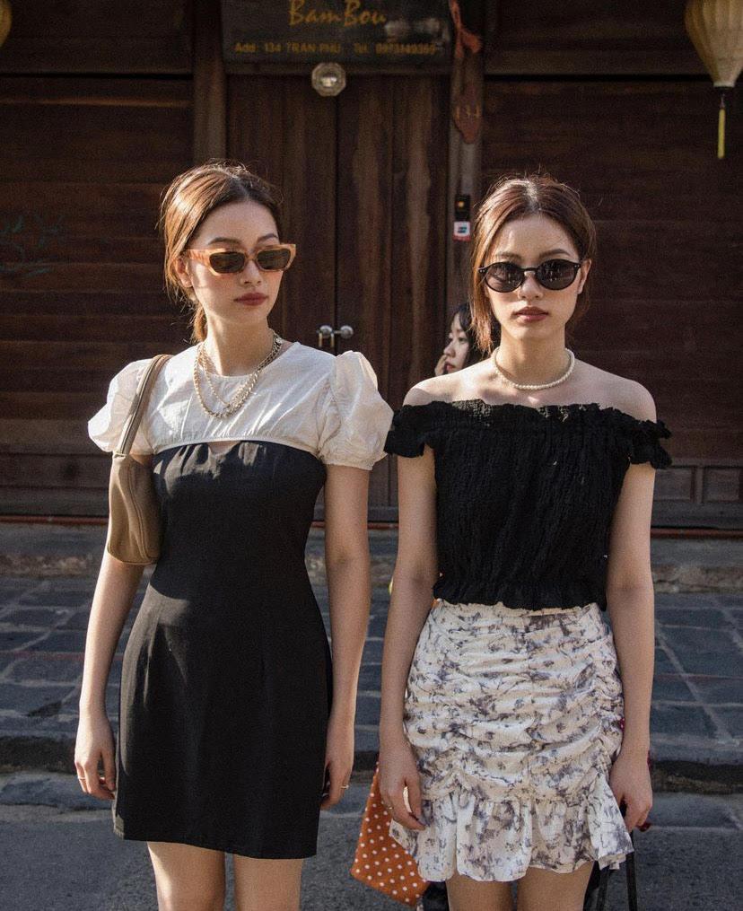 - Chúng em cũng đã nghiêm túc nghĩ sẽ tận dụng điểm đặc biệt này để tiến sâu trong lĩnh vực thời trang nhưng không hẳn là chuyên sâu về người mẫu , có thể như kinh doanh thời trang , fashionista.... Nghe có vẻ xa vời nhưng đó là mục tiêu lớn để chúng em phấn đấu ạ.