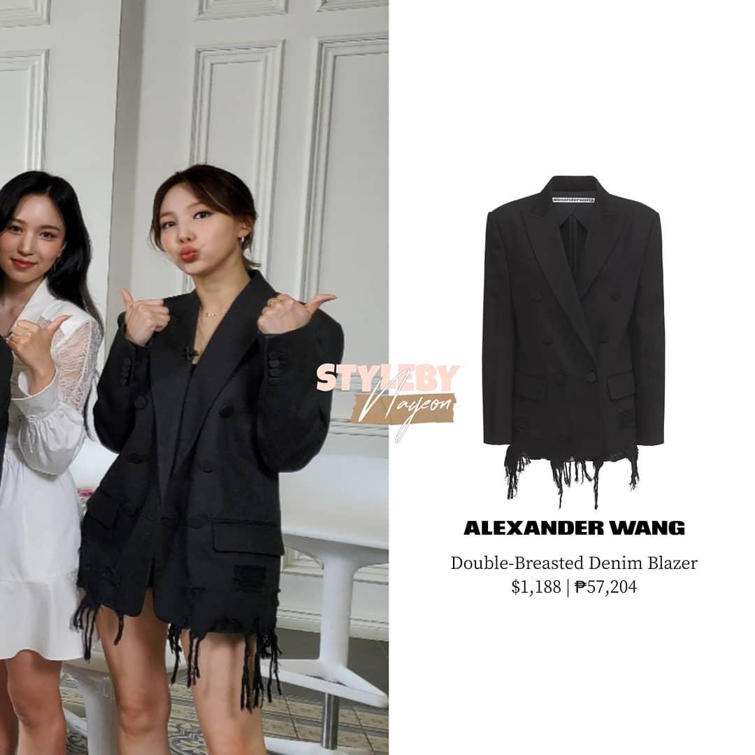 Chị cả Twice mặc mẫu blazer của Alexander Wang.
