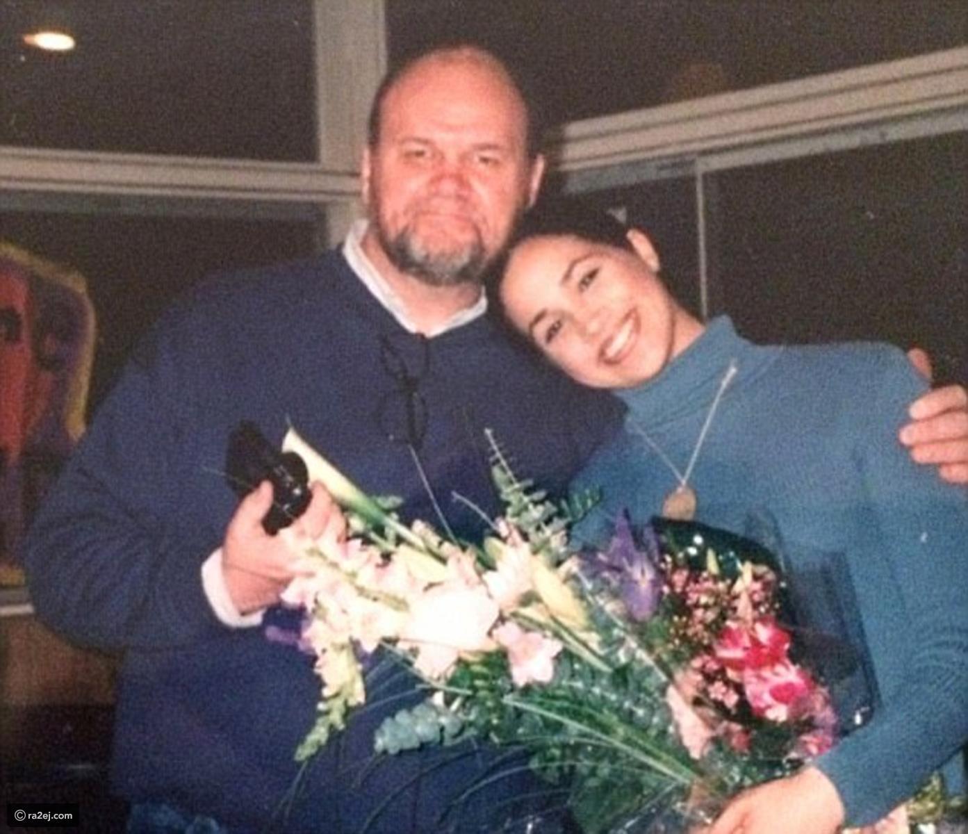 Meghan và bố Thomas.