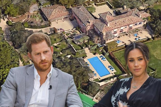 Harry và Meghan đang sống trong biệt thự ở Montecito sau khi rời Hoàng gia Anh.