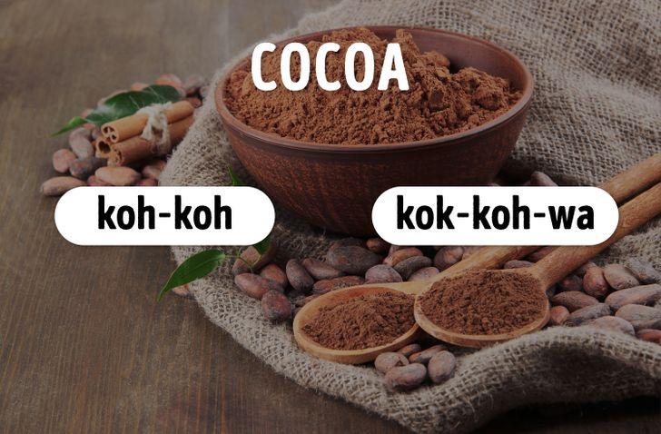 Bạn phát âm từ cocoa như thế nào?