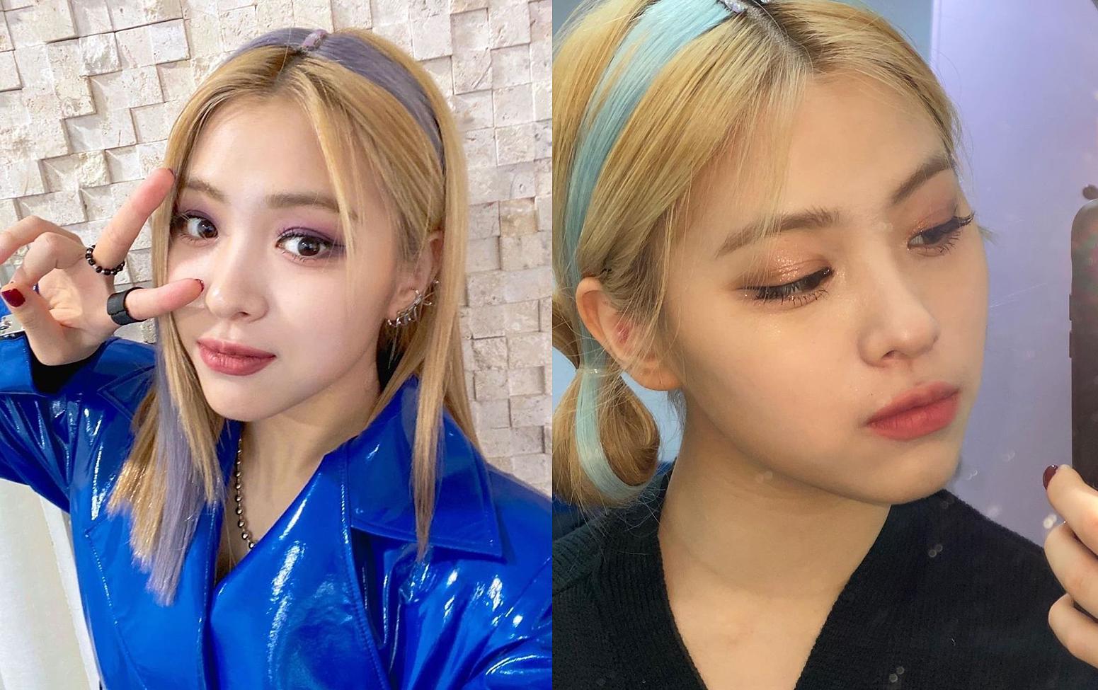 Mái tóc băng đô giả của Ryu Jin (ITZY) trông khá lộ và nhiều lần bị chê, song lại khuấy động kiểu tóc từng hot một thời này trở lại thành hot trend tại châu Á.