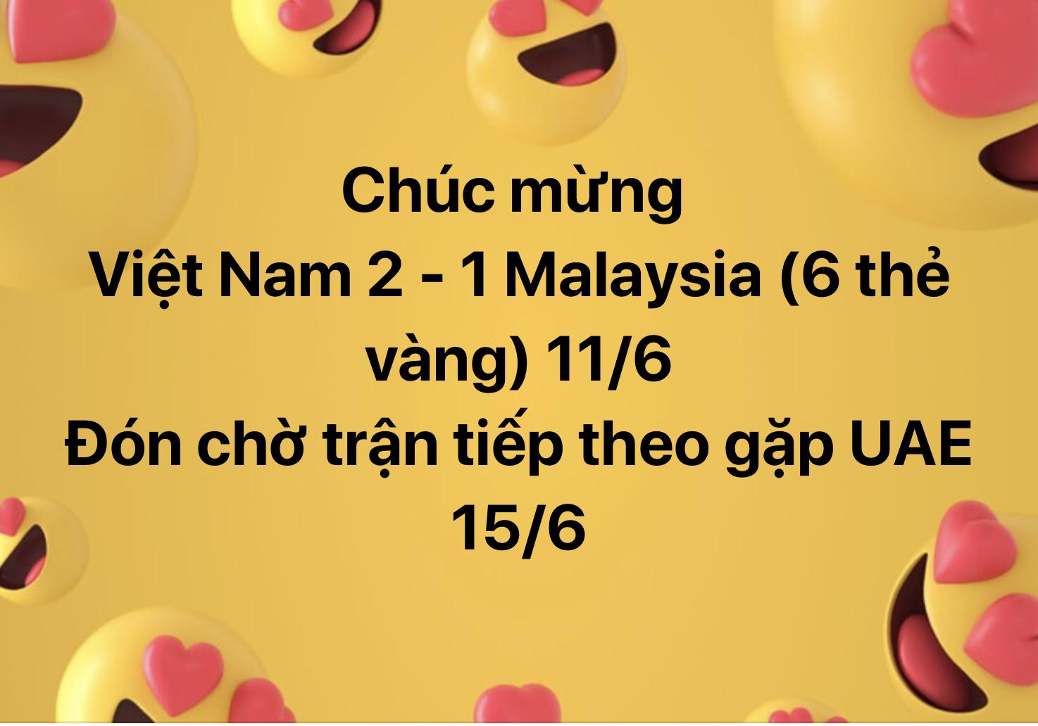 Chúc mừng Việt Nam nhưng cũng không quên chia buồn với đội bạn rằng đã thua còn nhận cơn mưa thẻ vàng.