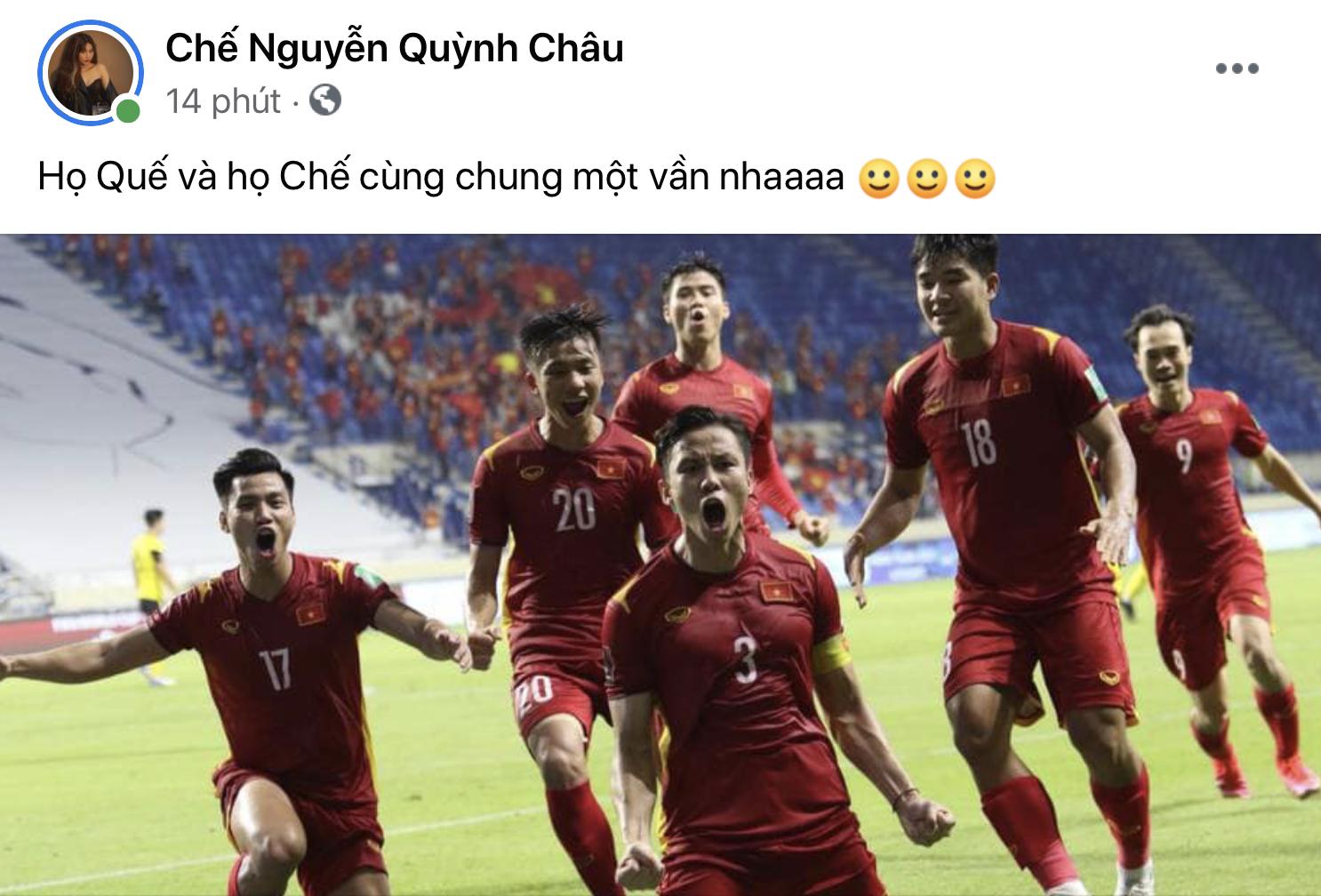 Chế Nguyễn Quỳnh Châu dành niềm tin yêu, tự hào cho Quế Ngọc Hải.