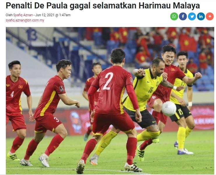 Báo Malaysia: Cầu thủ nhập tịch De Paula cũng không cứu nổi Những chú hổ Malaya
