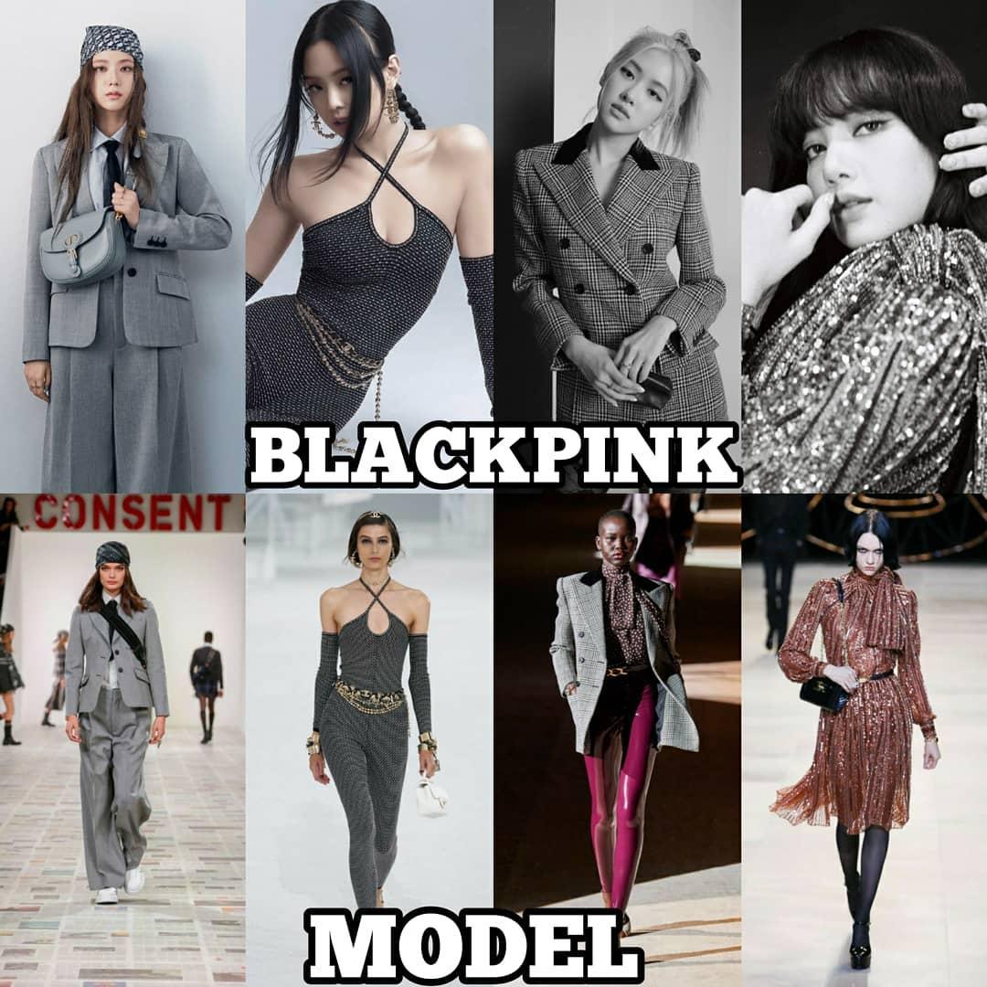 Khi so sánh với người mẫu trên sàn diễn, Black Pink không lép vế, thậm chí nhiều lần còn được khen khí chất sang chảnh hút mắt hơn hẳn nếu diện cùng một mẫu trang phục.