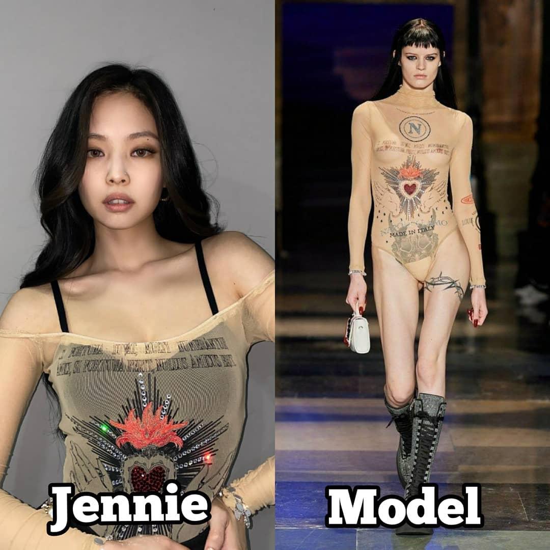 Khả năng biến tấu trang phục đáng nể giúp nhiều bộ cánh Jennie mặc lên người không còn nhận ra bản gốc.