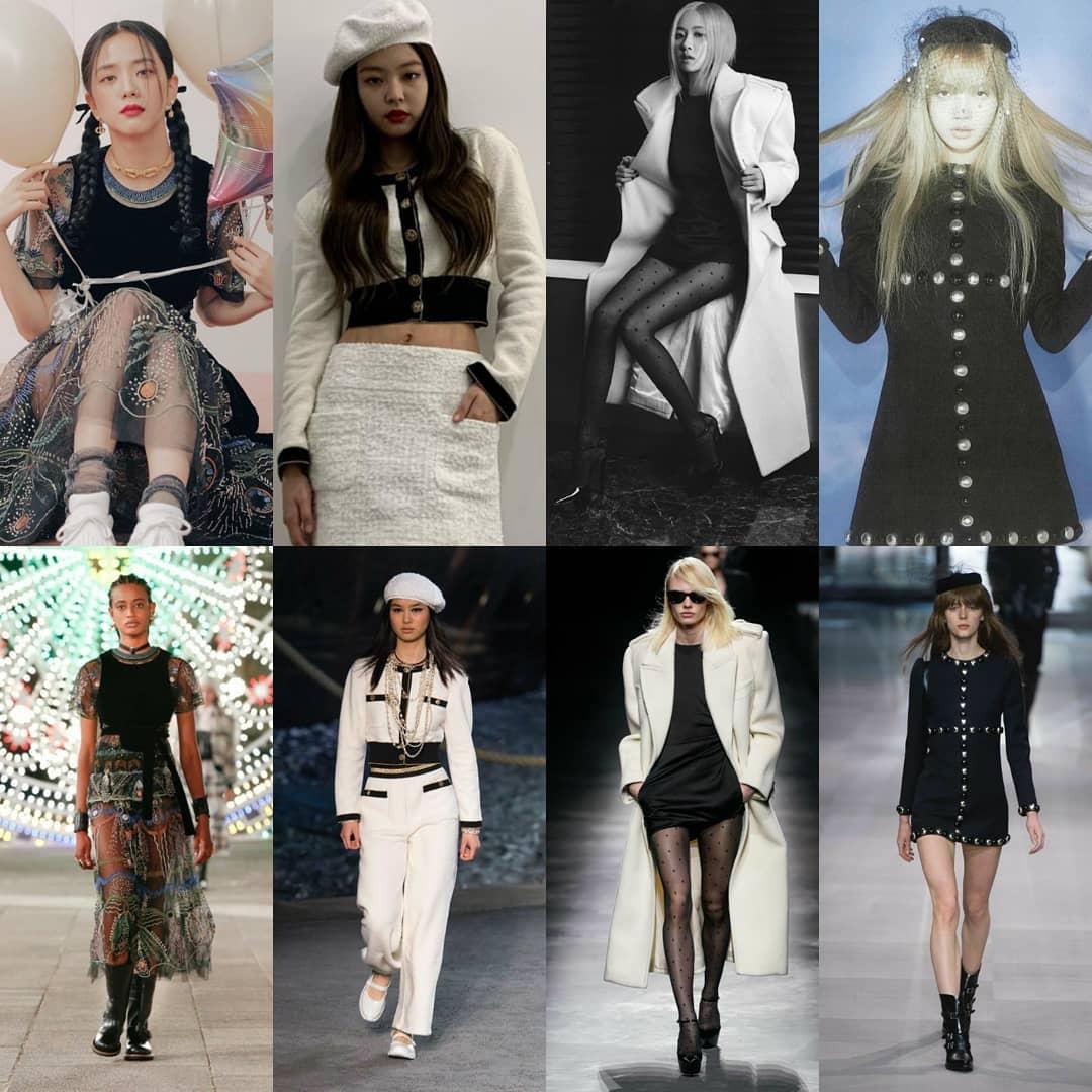 Để tạo điểm nhấn cho các idol, stylist của Black Pink cũng thường tạo nên những sự biến tấu như cắt ngắn váy, cắt áo, phối phụ kiện... giúp trang phục phù hợp hơn với hình thể.