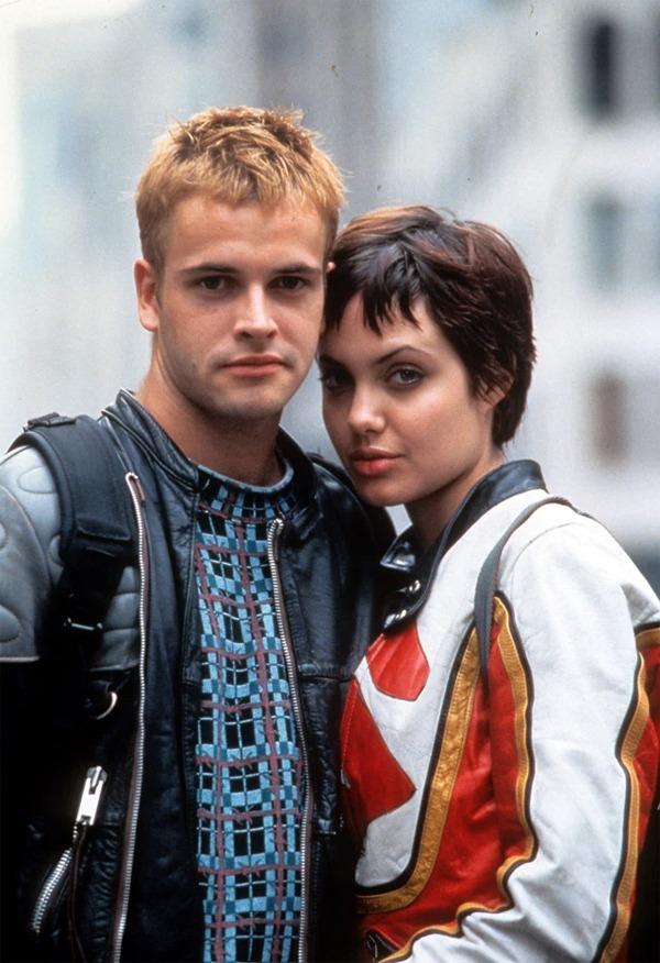Jolie và Miller thời đóng phim Hackers.