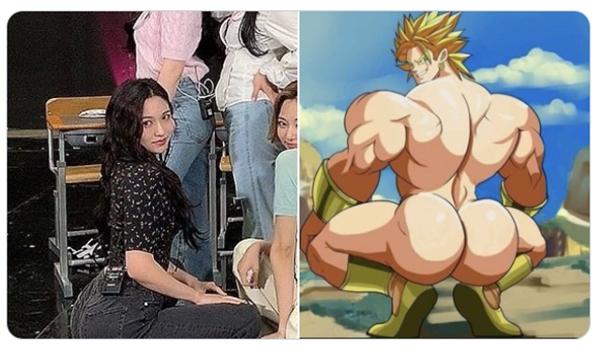 Fan so sánh vui body Mina với một nhân vật hoạt hình.
