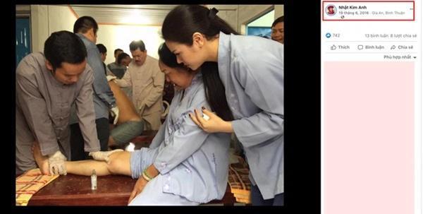 Hình ảnh chữa bệnh được Nhật Kim Anh đăng tải công khai.