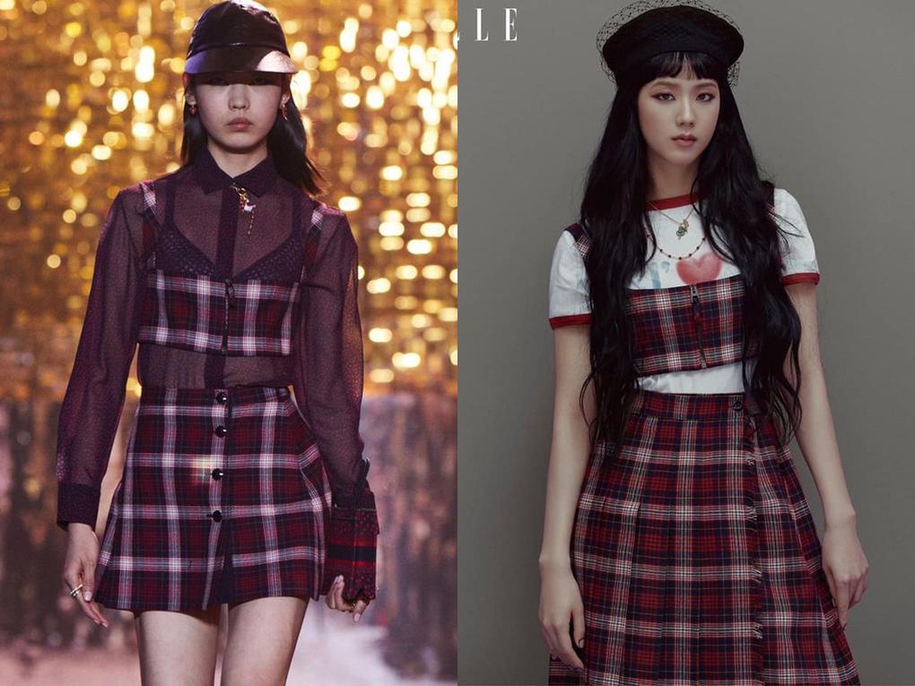 Những mẫu váy cảm hứng học đường trẻ trung nhưng vẫn thanh lịch, phù hợp với visual đậm chất tiểu nhà nhà tài phiệt của Ji Soo.