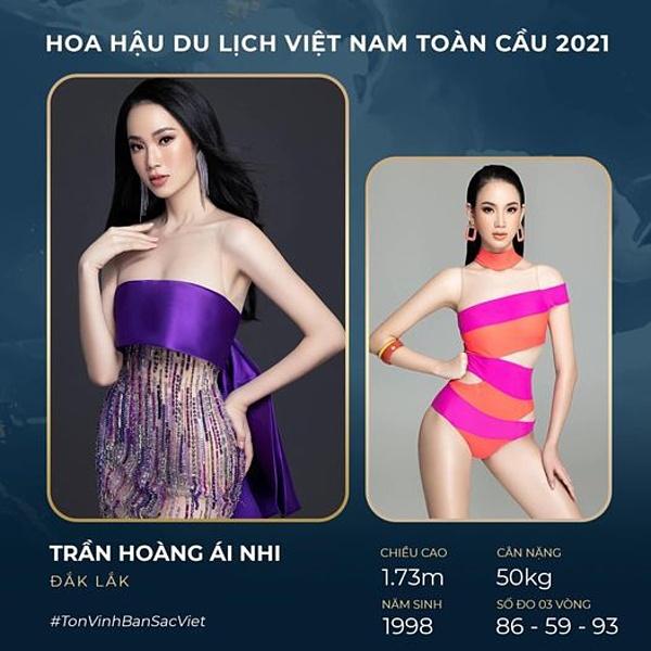 Ái Nhi từng vào top 10 Miss World Vietnam 2019, top 22 Hoa hậu Việt Nam 2020.
