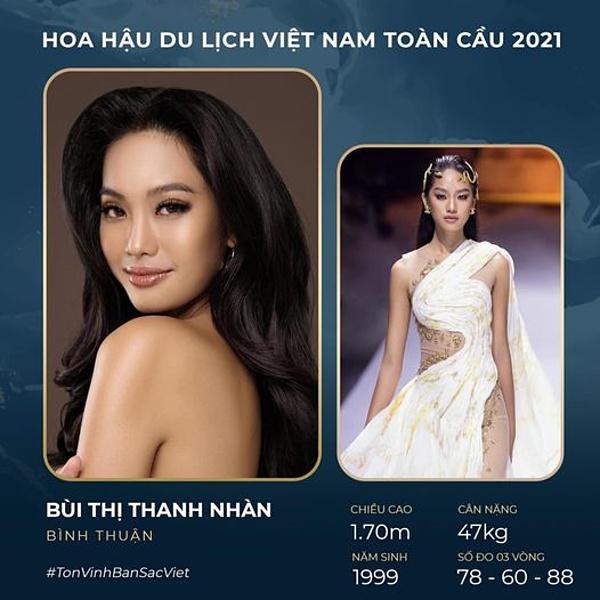 Bùi Thanh Nhàn từng vào top 15 Hoa hậu Việt Nam 2020.