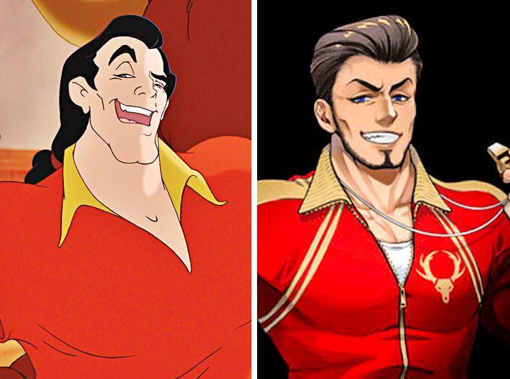 Ở phiên bản nào, Gaston cũng không thể che giấu được cái tôi quá lớn.