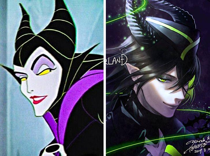 Maleficent phiên bản nam trông ma mị hơn.
