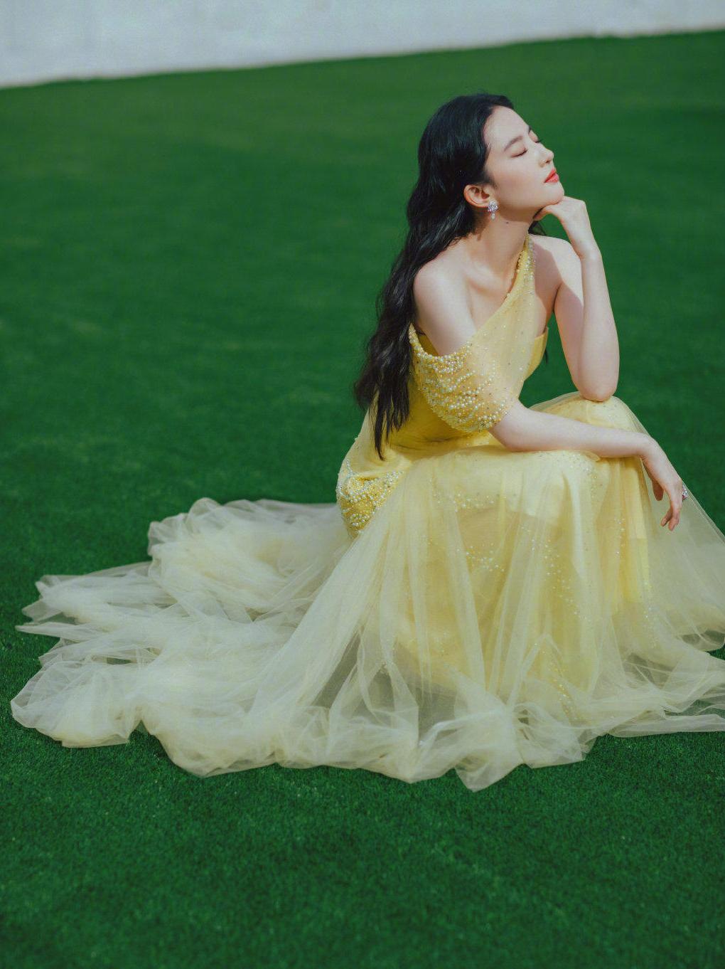 Vốn sở hữu vẻ đẹp nữ tính nên những trang phục, concept nhẹ nhàng được đánh giá phù hợp với mỹ nhân Hoa ngữ. Chất liệu voan tạo được độ phồng đẹp cho váy nhưng không quá nặng nề chính là lựa chọn Lưu Diệc Phi yêu thích.