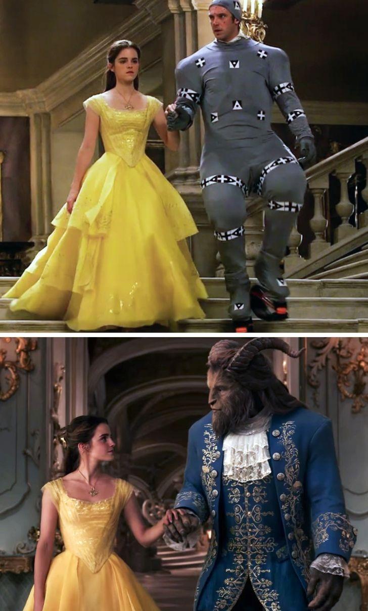 Trong Beauty and the Beast, diễn viên không phải đội cái đầu quái vật giả nào cả. Công nghệ CGI đã lo liệu hết mọi thứ.