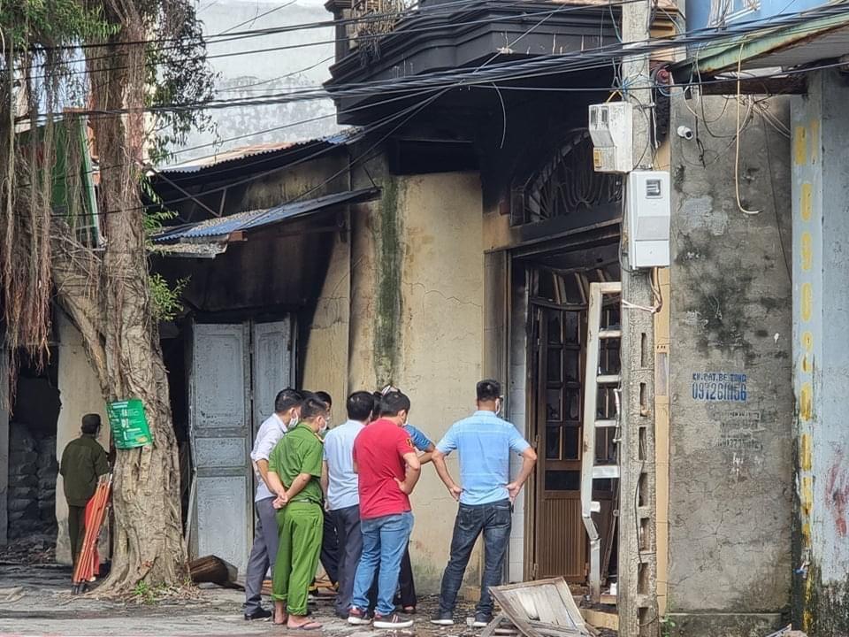 Hiện trường nơi xảy ra vụ cháy.