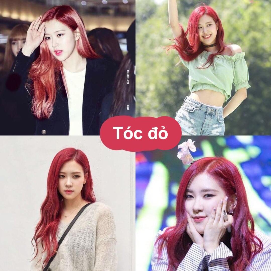 Tóc đỏ rực như Nàng tiên cá giúp Rosé tỏa sáng trên sân khấu. Tuy nhiên, đây cũng là màu nhuộm chỉ dành cho những cô nàng có làn da trắng sáng.