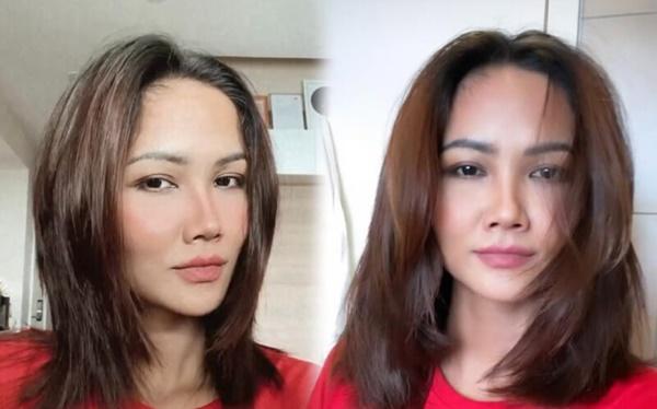 HHen Niê xem các video tự cắt <a href='https://www.thegioitoc.top' target='_blank'>tóc</a> trên mạng để bắt chước. Cô buộc cao phần tóc cần cắt, sau đó dùng tông đơ, cắt ngắn. Mỹ nhân 29 tuổi nhận xét mái tóc mới của mình giống mốt tóc sư tử từng thịnh hành khoảng 15 năm trước của giới trẻ.