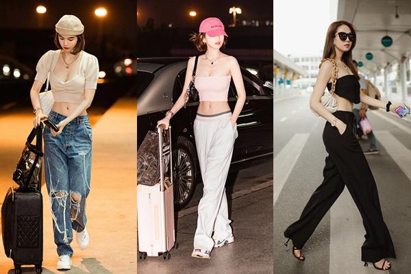 Style sân bay của Ngọc Trinh là sự tổng hòa liên tục của điệu đà và hầm hố, của thời trang cao cấp và bình dân, được không chỉ các cô gái Việt mà còn nhiều người nổi tiếng học hỏi.