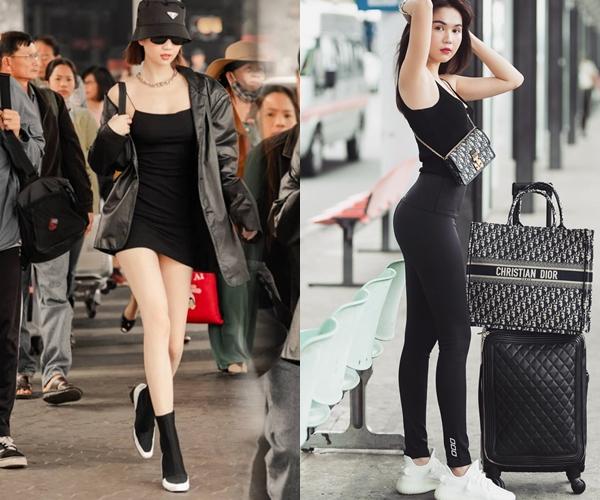 Không chỉ đổi mới phong cách liên tục, Ngọc Trinh còn thể hiện độ chịu chi đến mức mỗi lần ra sân bay, cô nàng mang theo đến 3,4 bộ trang phục khác nhau để tranh thủ chụp hình.