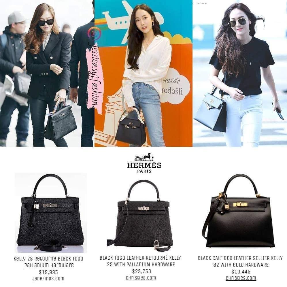 Chiếm đa số trong bộ sưu tập Hermes của Jessica là những chiếc túi màu đen tiện dụng. Dòng Kelly với kiểu dáng đơn giản, thanh lịch được mỹ nhân 8x bổ sung liên tục vào tủ đồ để có hình ảnh cổ điển, thanh lịch.