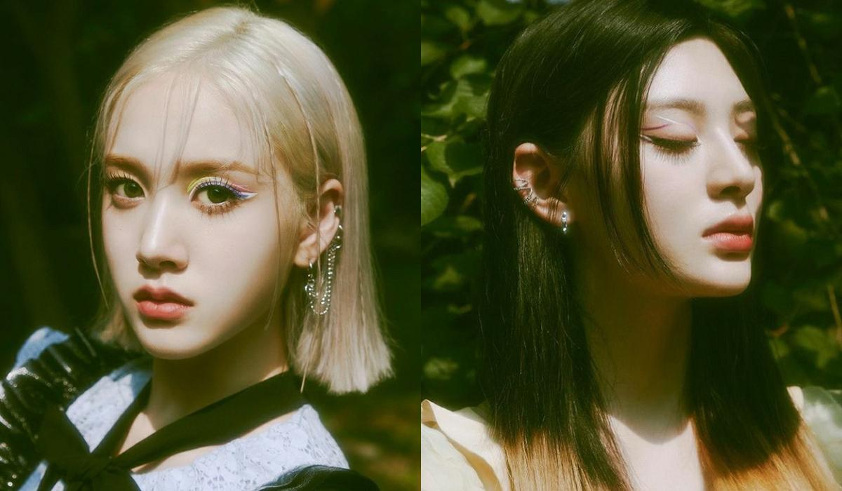 Trên gương mặt mờ ảo của các cô gái, những đường kẻ eyeliner màu sắc được tôn lên nổi bật, mỗi người một vẻ không ai thua kém.