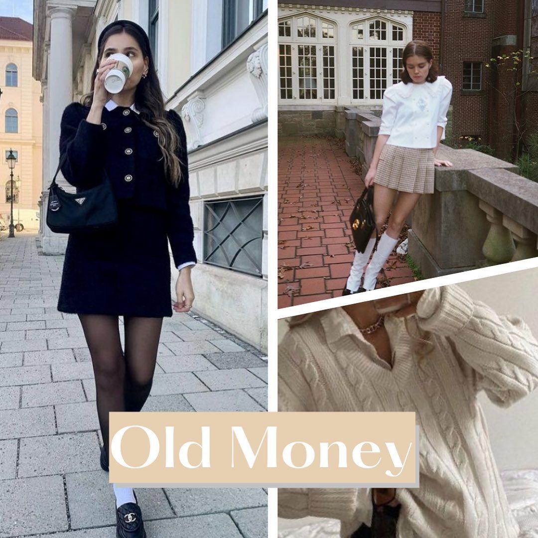 Old Money là khái niệm để chỉ phong cách của giới quý tộc, thượng lưu lâu đời. Áp dụng trong lĩnh vực học đường, phong cách Old Money phù hợp với những cô nàng tiểu thư sang chảnh, phong thái kiêu kỳ chuẩn con gái nhà giàu.