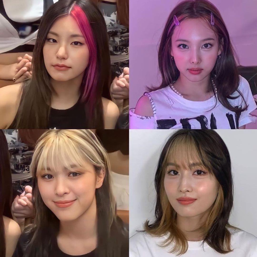 Netizen nhận xét phong cách của ITZY có phần chịu ảnh hưởng từ style nhuộm tóc của đàn chị Twice, có thể vì hai girlgroup cùng công ty và có chung stylist. Nếu như kiểu nhuộm mái của Yeji gây liên tưởng đến Na Yeon, style tóc lớp của Ryu Jin chẳng khác là bao so với Momo. Tuy nhiên xét về hiệu ứng thẩm mỹ, ITZY bị chê giống như Twice phiên bản lỗi.