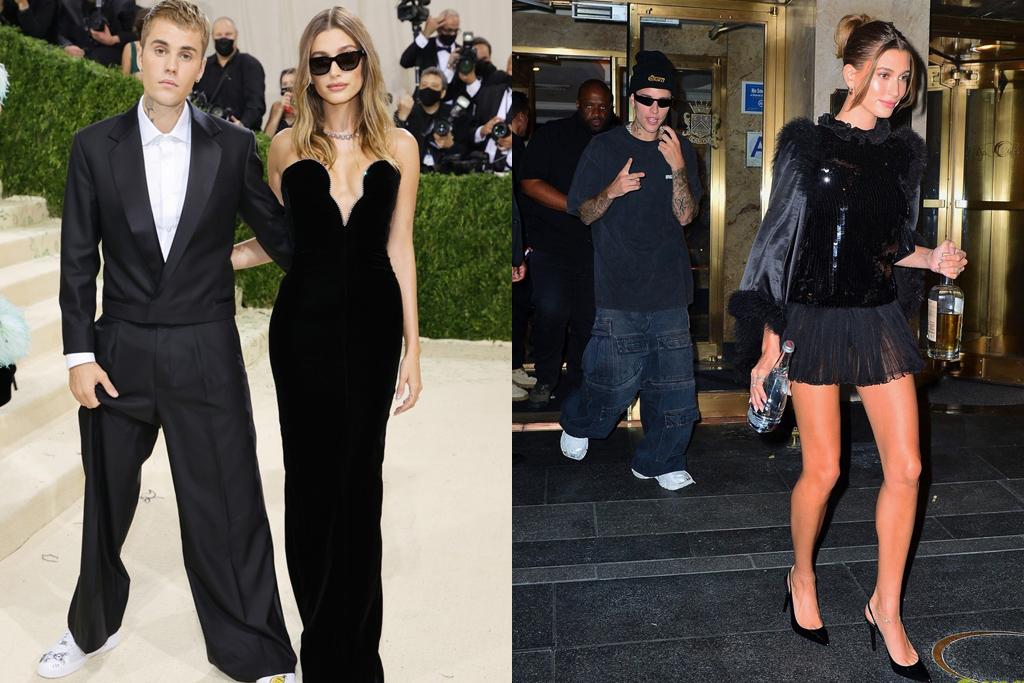 Đảm nhiệm vai trò host cho After-party năm nay, Justin Bieber và bà xã Hailey không lưu lại quá lâu trong sự kiện chính. Cặp đôi vội vã thay trang phục thoải mái, casual hơn để đến buổi tiệc.